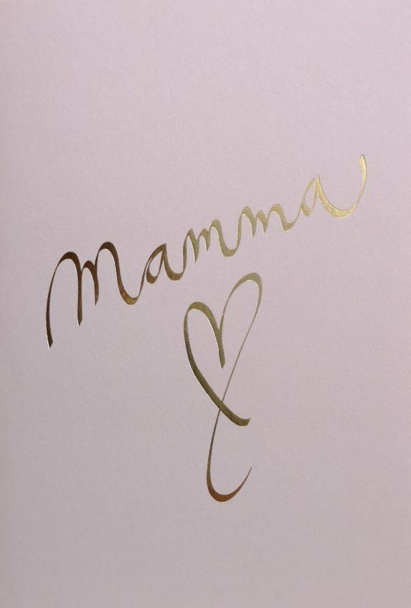 Annika Välimäen Mamma kortti äidille äitienpäivänä tai onnittelukortti